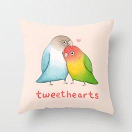Tweethearts Throw Pillow
