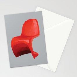 Panton Chair polygon art Stationery Cards