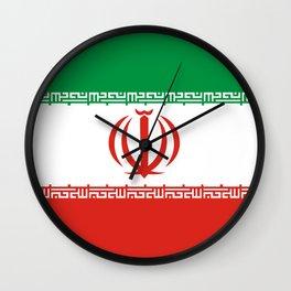 Iran country flag Wall Clock
