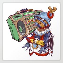 Tezcatlipoca Old School Hip Hop Art Print