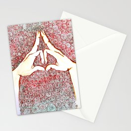 Yoga mudra 01 Stationery Cards