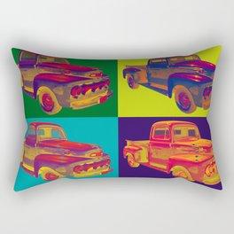 Colorful 1951 Ford F-1 Pickup Truck Pop Art  Rectangular Pillow