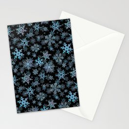 """Embroidered"" Snowflakes Stationery Cards"