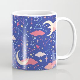 Constellation Stars and Moons in Neon Pastels Coffee Mug