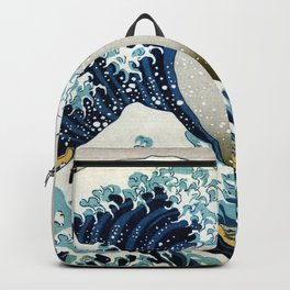 The great wave, famous Japanese artwork Backpack