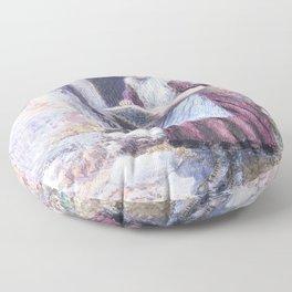 Myles Birket Foster - A school girl - Digital Remastered Edition Floor Pillow