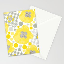 Yellow Oriental Poppy Garden Stationery Cards