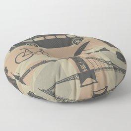vector set of London landmarks Britain symbols isolated Floor Pillow