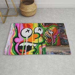 Cool Urban Cartoon Graffiti Art Rug