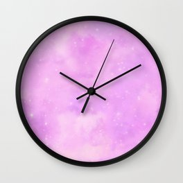 Pastel Cloulds Sky Seamless Nebula 218 Wall Clock