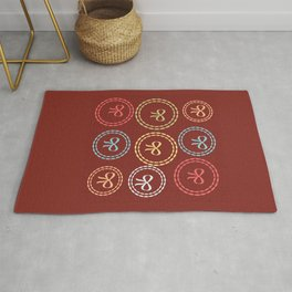 Bright Red Bows Pattern Rug