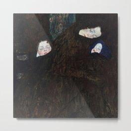 Gustav Klimt - Mutter mit zwei Kindern (Familie) Metal Print