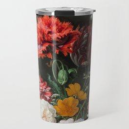 Dutch Golden Age Floral Painting Travel Mug