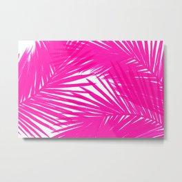 Palms Fuchsia Metal Print