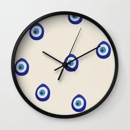 Eye'm Watching You- Blue Evil Eyes Wall Clock