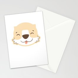 Cute dog toddlers children kids Stationery Cards