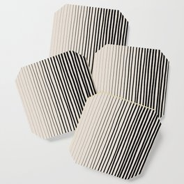 Black Vertical Lines Coaster