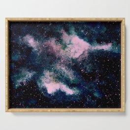 Dreamy Cloud Galaxy, Pink Serving Tray