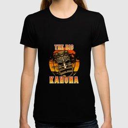 Funny Hawaiian Tiki Mask Luau Hawaii The Big Kahuna Pun Cool Gift T-shirt
