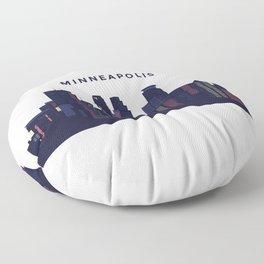 City landscape of Minneapolis, Minnesota Floor Pillow
