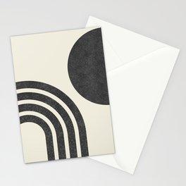 Mid Century Modern - Sun & Rainbow BW Stationery Cards