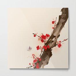 Oriental plum blossom in spring 010 Metal Print