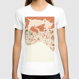 ISTANBUL TURKEY CITY MAP EARTH TONES T-shirt