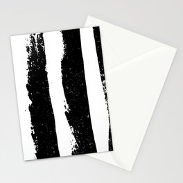 Paint Brush Rough Grunge Stroke Zebra Pattern in Black and White Stationery Cards