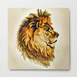 MAJESTIC LION PORTRAIT Metal Print