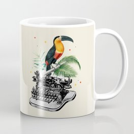 Retro Style Tropical Composition Coffee Mug