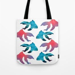 Pattern Oil Painting Abstract Tropical Fish Tote Bag