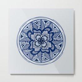 Tiled Metal Print