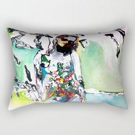 Pushing Paint Rectangular Pillow