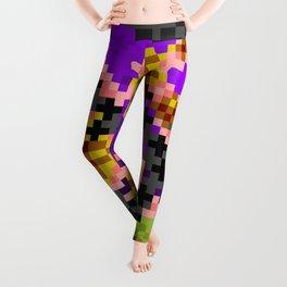 Fire Bonsai Pixel Art Leggings