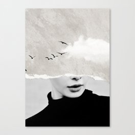 minimal collage /silence Canvas Print