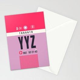 Baggage Tag A - YYZ Toronto Canada Stationery Cards