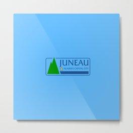 flag of juneau Metal Print
