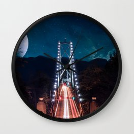 Lions gate bridge Vancouver Wall Clock