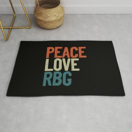 Peace Love Rbg Shirt Ruth Bader Ginsburg Vintage Rug