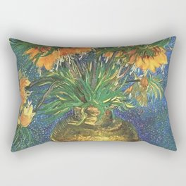 Fritillaries (lilies) in a Copper Vase by Vincent van Gogh Rectangular Pillow