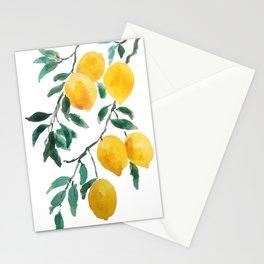 yellow lemon 2018 Stationery Cards