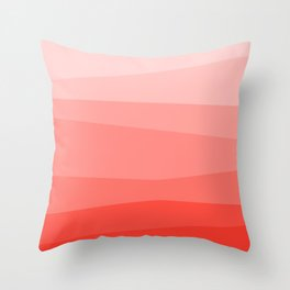 Diagonal Living Coral Gradient Throw Pillow