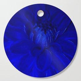 Royal Blue Fractal dahlia Cutting Board