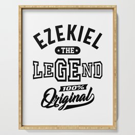 Ezekiel Personalized Name Birthday Gift Serving Tray