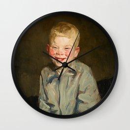 Frans Hals - A Boy - Renaissance Fine Art Retro Vintage Oil Painting Wall Clock