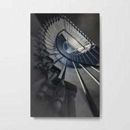 Forgotten blue staircase Metal Print