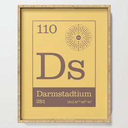 Periodic Elements - 110 Darmstadtium (Ds) Serving Tray
