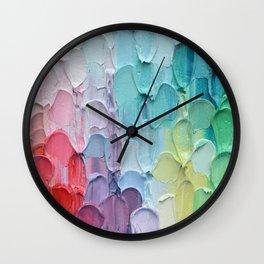 Polka Daub Feathers Wall Clock