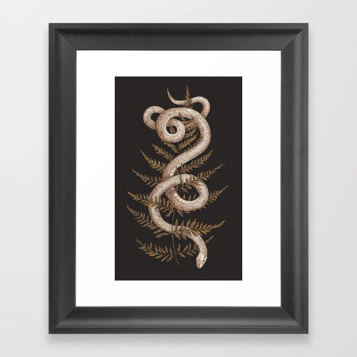 The Snake and Fern Gerahmter Kunstdruck