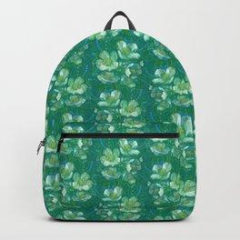 Jasmine Bloom, Summer Flowers, Vintage Floral Pattern  Backpack